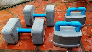 Video HOW TO MAKE DUMBBELLS CEMENT- GYM AT HOME (TRY YOUR OWN) MP3, 3GP, MP4, WEBM, AVI, FLV Maret 2019