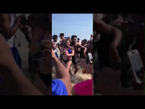 Bikini Beach Toss And Tackle Football Escalates Into Insanity
