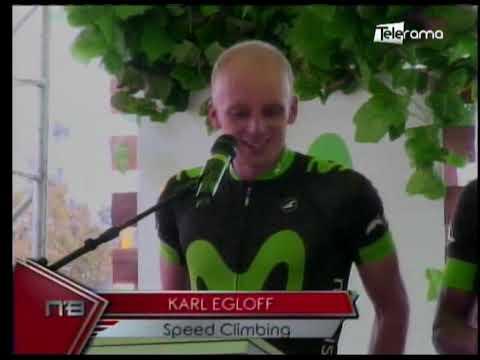 Karl Egloff y Nicolás Miranda marca regional Speed Climbing en Aconcagua