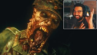 """The official Call of Duty World War 2 Zombies Reveal Trailer Reaction. In this video we react and breakdown some of the important part in this new zombies trailer. It LOOKS AWESOME!▶Hollowpoiint LIMITED EDITION Merch:https://teespring.com/stores/hollowpoiint▶Infinite Warfare: HOW TO AIM BETTER:https://www.youtube.com/watch?v=TlYGNBPNbns▶Infinite Warfare How To LEVEL UP FAST:https://www.youtube.com/watch?v=yLhZ1U8ij7M▶SELLING Infinite Warfare at GAMESTOP (Day Of RELEASE)https://www.youtube.com/watch?v=eRG0OywM_XYFOLLOW ME HERE:▶ Twitter: https://twitter.com/HollowPoiint▶ FaceBook: https://Facebook.com/HollowPoiint▶ Instagram: http://instagram.com/HollowPoiint▶Twitch: https://Twitch.tv/HollowPoiintEVERYTHING I use to GAME:▶Kontrol Freek:https://www.kontrolfreek.com/?a_aid=Hollow(USE Code """"Hollow"""" For 10% OFF)▶SCUF Gaming: https://scufgaming.com/(USE Code """"Hollow For OFF)▶ASTRO (My HEADSETS)http://tinyurl.com/hmosn72▶GFUEL:http://gfuel.com/(USE Code """"Hollow"""" For 10% OFF)▶Ironside Computers - GET Your CUSTOM PC HERE:http://ironsidecomputers.com/page.php?load=index▶FAN MAIL Address:6800 SW 40th St #282 Miami FL 33155♬ Music ♬➞Title:➞Artist:▶Music courtesy of www.epidemicsound.com▶Intro Musich: https://soundcloud.com/twofeetmusic♛ Join The Team: ♛⎪ⓈⓊⒷⓈⒸⓇⒾⒷⒺ⎪ ..Not Later.. NOW ▶Subscribe: http://urlmin.com/subscribe0☢ Game On ☢––––––––––––Video Uploaded By HollowPoiint"""
