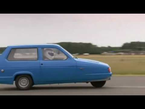 stig ( top gear ) si capotta con l' auto di mr. bean