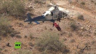 Algo salió mal en el rescate aéreo de una mujer de 74 años