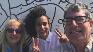 Artist Shantell  Martin in a Fathom Impact cruise with Lori and Randall with AmbassadorsVIP.com and