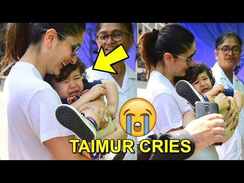 Taimur Ali Khan CRIES Getting SCARED Of CREW Members Around Mommy Kareena Kapoor At Mehboob Studio