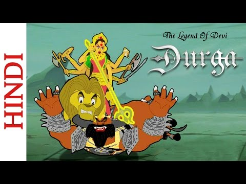 Popular Hindi Mythological Stories - The Legend Of Devi Durga - Goddess Durga Kills Mahishasura