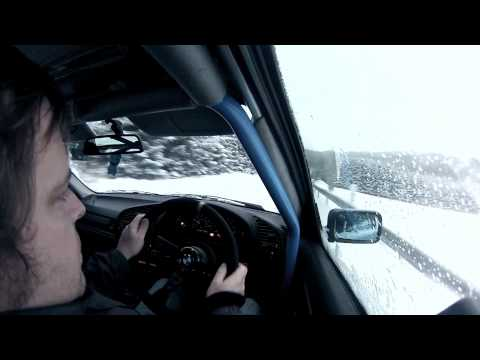 Why BMWs are great in the snow. From the Nürburgring to home in 15cm of powder!