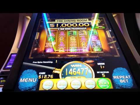 New Clue Slot Machine 2014 Big Win Progressive Hit