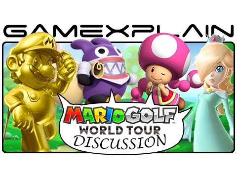 Mario - http://www.GameXplain.com Nintendo announced that there would be DLC for Mario Golf: World Tour. Not only that, but players could get the DLC as part of a se...