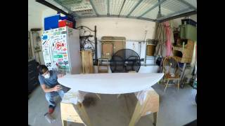 Shaping a surfboard: time lapse