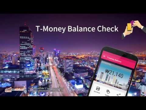 Video of T-money Balance Check (NFC)