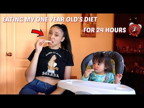 EATING A ONE YEAR OLD'S DIET FOR A DAY