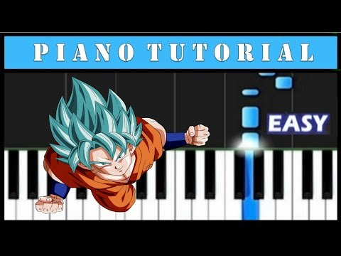Dragon Ball Super - Easy Piano Tutorial (Synthesia)