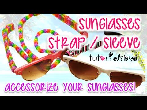 NEW Sunglasses / Glasses Strap Sleeve Trisingle Rainbow Loom Tutorial | How To
