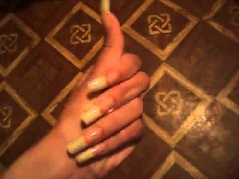 Wonderful natural long nails of AlexLong (video 4)