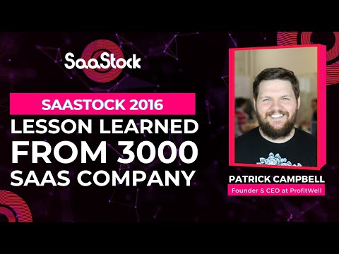 Lessons Learned From 3000 SaaS Companies