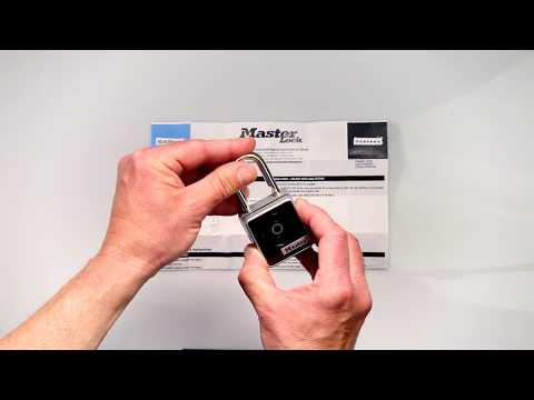 Screen capture of Master Lock 4400D &amp; 4400DLH Bluetooth<sup>&reg;</sup> Padlocks &#45; Get Started