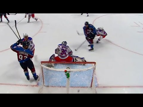 Video: Rantanen and Johnson connect on redirect, give Avalanche lead