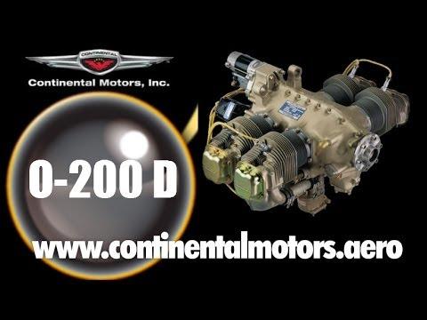Continental Motors, Continental 0 200 D light sport aircraft engine.