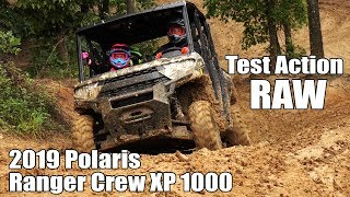 3. 2019 Polaris Ranger Crew XP 1000 Test Ride Action Raw