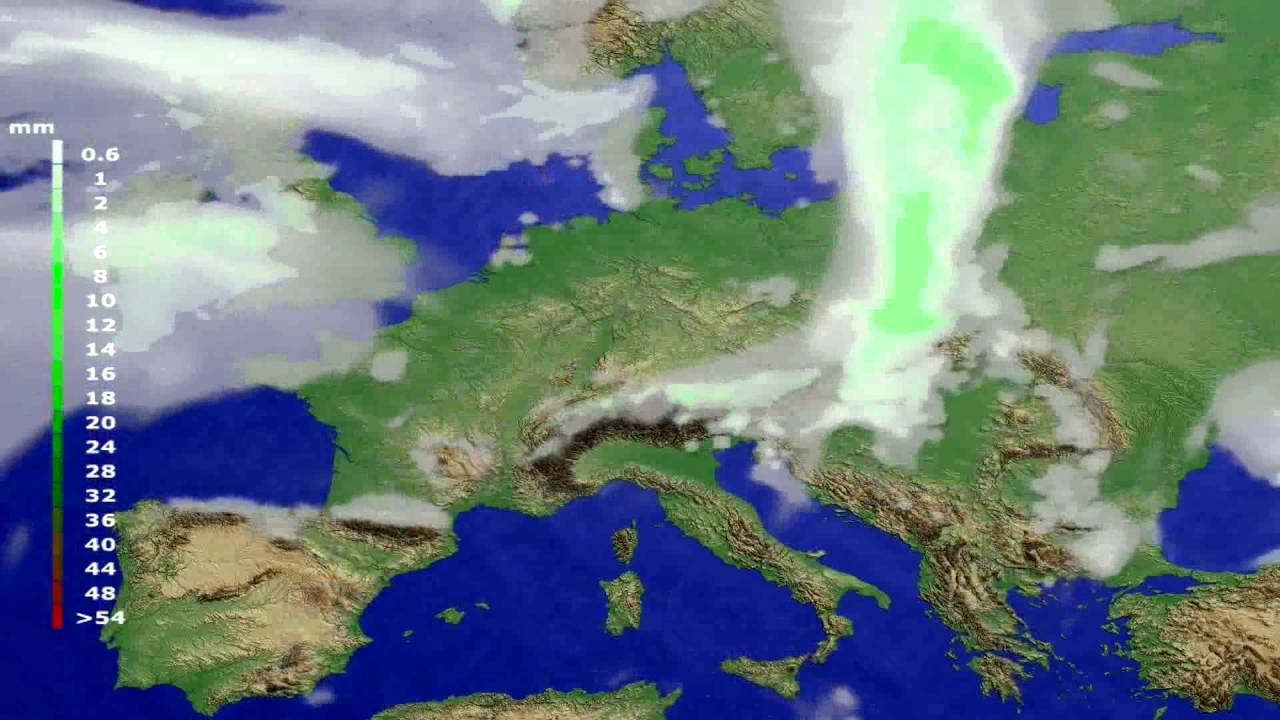 Precipitation forecast Europe 2016-06-29