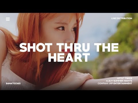 TWICE (트와이스) - SHOT THRU THE HEART | Line Distribution