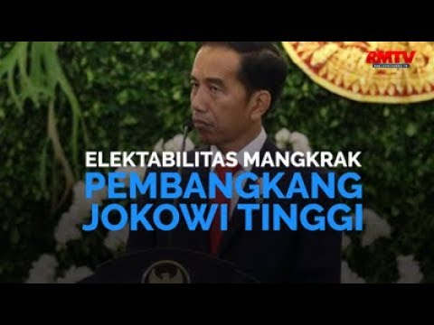 Elektabilitas Mangkrak, Pembangkang Jokowi Tinggi