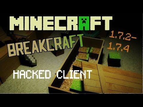 Minecraft 1.7.2 – 1.7.5 : Hacked Client – Breakcraft – Griefing got easy ! [HD]