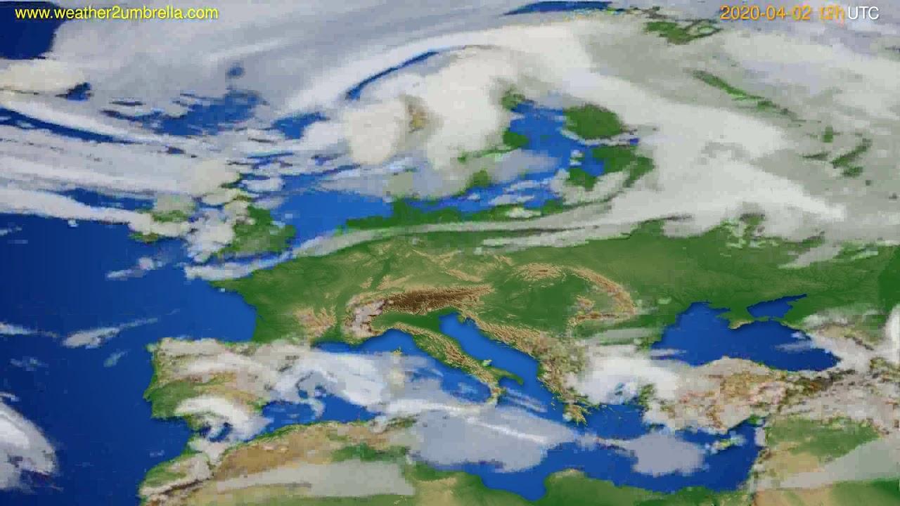 Cloud forecast Europe // modelrun: 00h UTC 2020-04-02