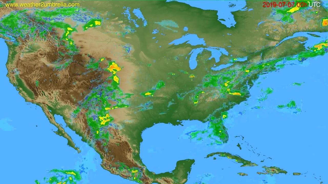 Radar forecast USA & Canada // modelrun: 12h UTC 2019-07-06