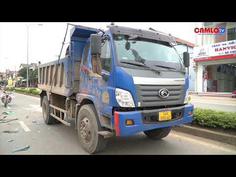 Tai nạn liên hoàn tại nút đèn đỏ qua thị trấn Cam Lộ