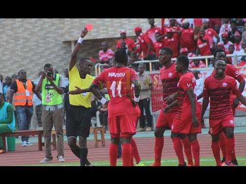 Tazama Kadi Nyekundu Aliyopewa Besala Bokungu Kwenye Mchezo wa Simba vs Yanga