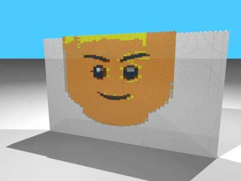 HD Lego Mosaik Test
