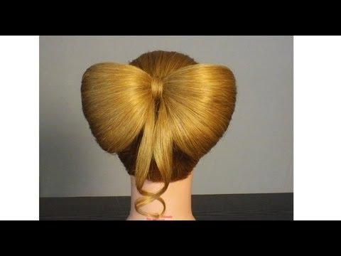 Прическа бант. Как сделать бант из волос.