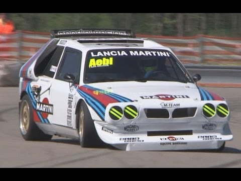 lancia delta s4 group b with terrific sound at swiss hillclimb