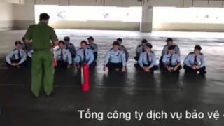 Bảo vệ - vệ sĩ Long Hải huấn luyện PCCC và cứu nạn - cứu hộ
