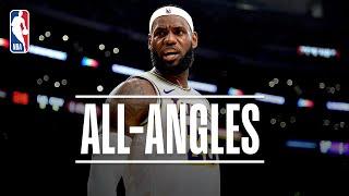 ALL-ANGLES: LeBron's INSANE No-Look, Over-the-Shoulder Dime! | 2019 NBA Preseason by NBA