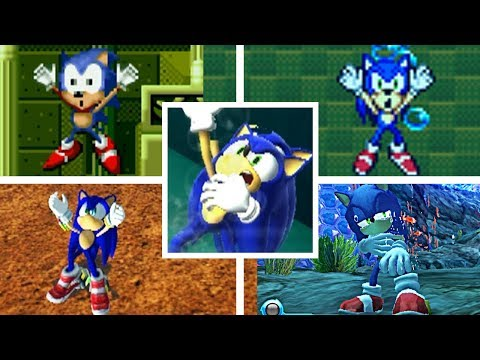 Evolution Of SONIC DROWNING In The Sonic The Hedgehog Series (1991-2018) Genesis, GBA, PC & More!
