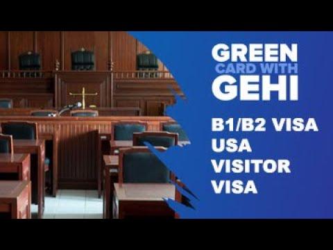 B1 and B2 Visa (visitors for business or pleasure)