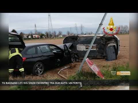 TG BASSANO | 27/03/2020 | SCONTRO TRA DUE AUTO: UN FERITO