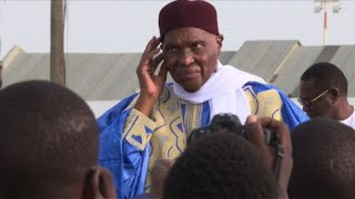 Former president Abdoulaye Wade arrives in Senegal to campaign ahead of the parliamentary elections on July 30th. IMAGES.