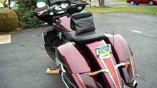 10. 2010 Victory Cross Country with additional running lights and turn signals.