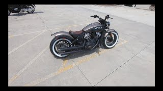 10. 2019 Custom Indian Scout Bobber | First Ride