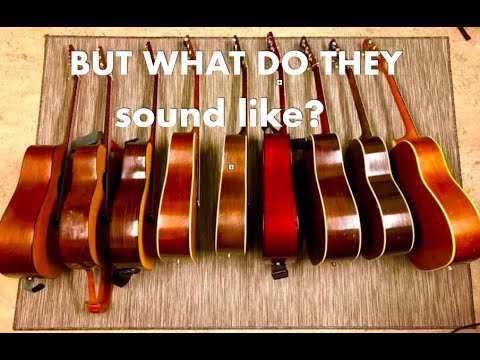 Vintage Acoustic Guitar Shootout – 9 Guitars (Gibson – Martin – Guild…)