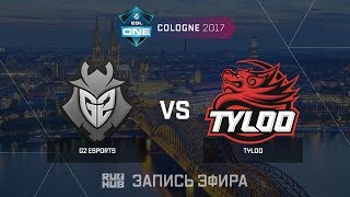 G2 Esports vs Tyloo - ESL One Cologne 2017 - de_cache [CrystalMay, sleepsomewhile]