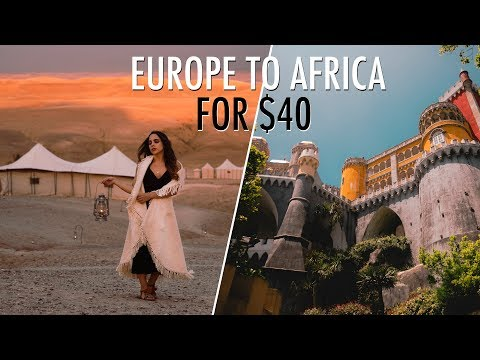 How To Travel EUROPE TO AFRICA FOR $40 ! (Spain Travel Vlog)