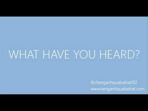 Luyện Nghe Tiếng Anh Qua Bài Hát 014 - Thời lượng: 63 giây.