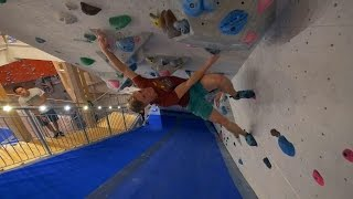 Peter Is Climbing Where He Never Climbs, In The Tunnel! by Eric Karlsson Bouldering