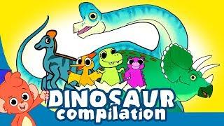 Video Learn Dinosaurs for Kids   Cute Dinosaur movie Compilation   Triceratops Brachiosaurus T-rex MP3, 3GP, MP4, WEBM, AVI, FLV September 2018