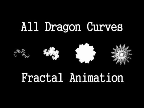 Animation Degrees - The Dragon Curve is a fractal pattern that can be made by folding a piece of paper. The angle of each fold is usually 90 degrees. This animation shows altern...