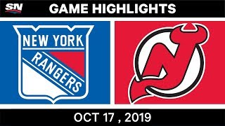 NHL Highlights | Rangers vs Devils – Oct 17 2019 by Sportsnet Canada
